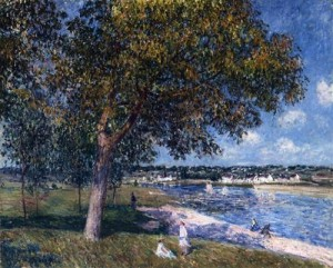 walnut-tree-in-a-thomery-field-1880 Alfred Sisley